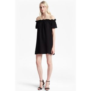 Evening Dew Crepe Bardot Dress