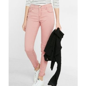 Mid Rise Five Pocket Stretch Leggings | Express