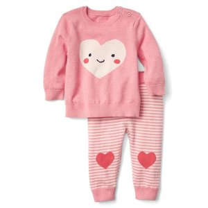 Heart sweater and pants set