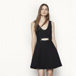RAMISA Short dress with saddle stitching - Dresses - Maje.com