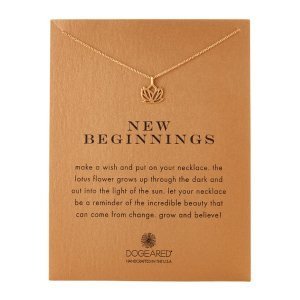 Gold-Tone New Beginnings Lotus Necklace - Century 21
