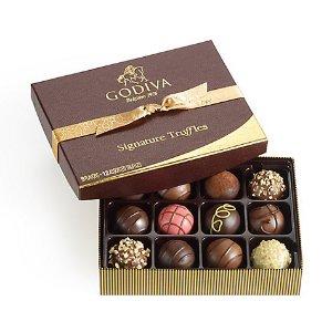 12 pc. Signature Chocolate Truffles Gift Box - Classic| GODIVA