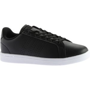 Mens adidas NEO Cloudfoam Advantage Clean Court Shoe - Core Black/Core Black/DGH Solid Grey - FREE Shipping & Exchanges