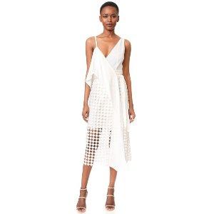 Diane von Furstenberg Asymmetrical Twig Lace Wrap Dress | SHOPBOP