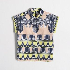 Girls' short-sleeve printed button-down shirt : shirts | J.Crew Factory