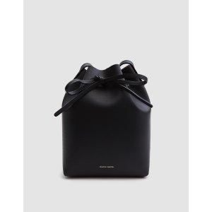 Mansur Gavriel / Mini Bucket Bag in Black/Ballerina