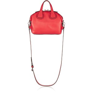 Givenchy   Micro Nightingale shoulder bag in red textured-leather