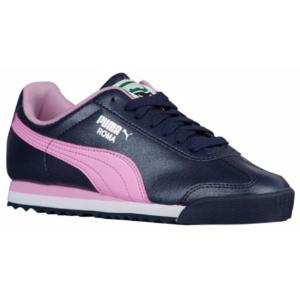 PUMA Roma - Girls' Grade School - Training - Shoes - Peacoat/Pastel Lavender