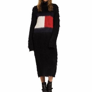 TOMMY FLAG MOHAIR SWEATER DRESS | Tommy Hilfiger