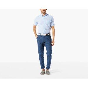 Premium Clean Khaki, Slim Tapered | Garment Dye, BLUE EMBROIDERED | Dockers® United States (US)