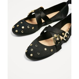 BOW DETAIL BALLERINAS - View all-SHOES-WOMAN | ZARA United States