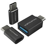 RAVPower 3-Pack USB C to Micro USB 3.0 Adapter Data Transfer