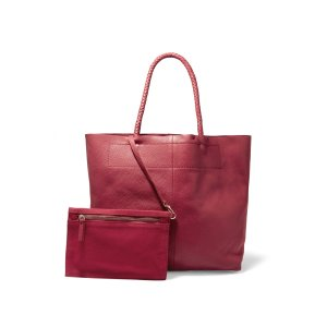 Textured-leather tote | Maje