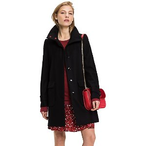 FUNNEL COLLAR WOOL COAT | Tommy Hilfiger
