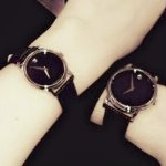 MOVADO Museum Black Dial Black Leather Strap Men's and Women's Watch