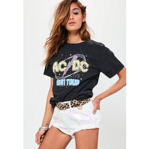 Black ACDC Live 1981 Tour T-Shirt