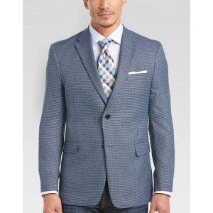 Tommy Hilfiger Blue Houndstooth Slim Fit Sport Coat - Men's Sport Coats   Men's Wearhouse