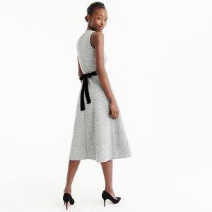 A-line dress with velvet tie