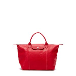 Le Pliage Cuir Leather Tote Bag by Longchamp at Gilt