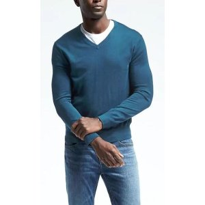 Silk Cotton Cashmere Vee