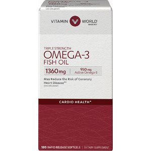 Triple Strength Omega-3 Fish Oil 1360 mg   Vitamin World