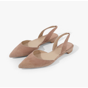 Pointed Suede Flats – Genuine People