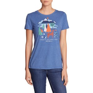 Women's Graphic T-shirt - Yosemite Geo   Eddie Bauer