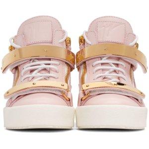 Giuseppe Zanotti: SSENSE Exclusive Pink London High-Top Sneaker