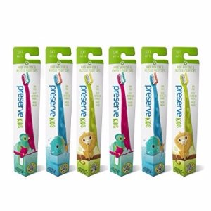 $3.13 Preserve Kids Toothbrush, Soft Bristles, (Pack of 6)