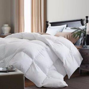 低至4折Blue Ridge Home Fashions 羽绒被、保暖被、羽绒枕、床单等床上用品特卖