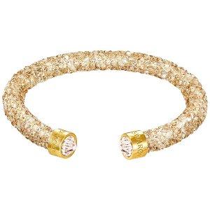 Crystaldust Cuff, Golden Crystal - Jewelry - Swarovski Online Shop
