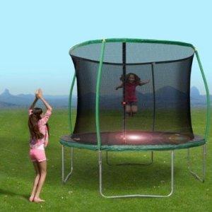 $58BouncePro 10' Trampoline w/ Steelflex Pro Enclosure with flash litezone(Child/Teen)