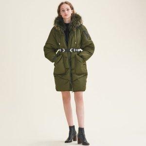 GORANGE Long down jacket with fur