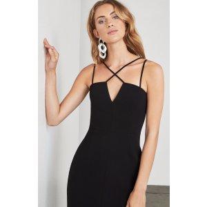 Luciele Crisscross Dress 黑色裙子
