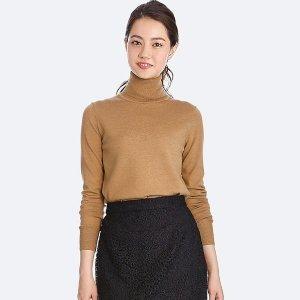 $19.9Extra Fine Merino Turtleneck Sweaters On Sale @ Uniqlo