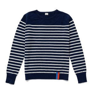The Sophie Cashmere Sweater - Navy/Cream – KULE