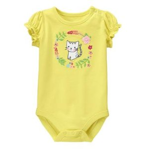 Baby Sweet Lemon Kitty Bodysuit by Gymboree