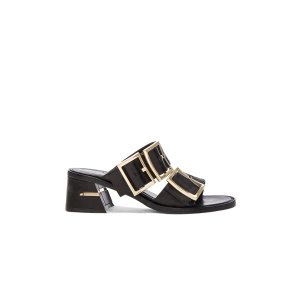 Tibi Leather Kari Sandals in Black