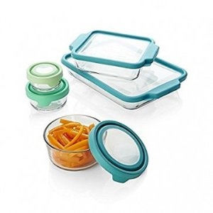 Anchor Hocking 10-Piece TrueFit/TrueSeal Bake Set with Mixed Color Lids - FLASH SALE SAVE 30% - Sale