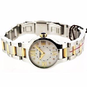 $299( Orig $1450)RAYMOND WEIL Noemia Two-Tone Mother of Pearl Diamond Ladies Watch 5927-STP-00995