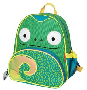 Skip Hop Zoo Toddler Kids Insulated Backpack Cody Chamelon Boy, 12 inches, Green