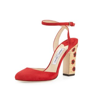 Jimmy ChooAlyssa Embroidered d'Orsay Sandal
