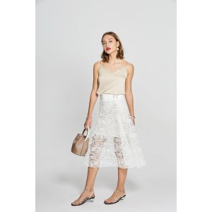Midi Lace Tie-Up Skirt SK0290