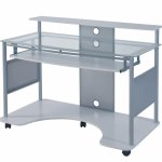 Z-Line Designs Mobile Workstation Desk, White