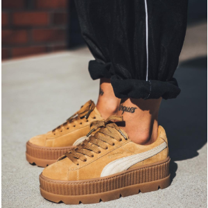 FENTY PUMA by Rihanna Cleated Creeper Suede Golden Brown Sneakers | ELEVTD Free Shipping & Returns