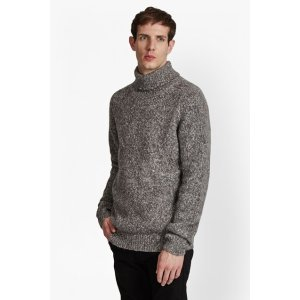 Buddy Knit Melange Roll Neck Jumper | Mens Sale | French Connection Usa