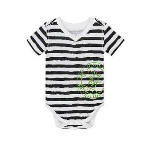 Painted Stripe Organic Cotton Bodysuit