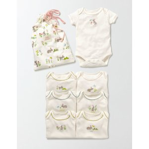 Bunnies 7 Pack Bodies 71587 Tops & T-Shirts at Boden