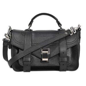 Ps1 Tiny + Grainy Calf Leather Bag Proenza Schouler Black - Monnier Frères