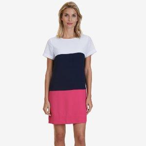 Colorblock Shift Dress - Bright White | Nautica